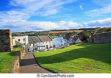 Panorama of St Andrews, Fife, Scotland, United Kingdom