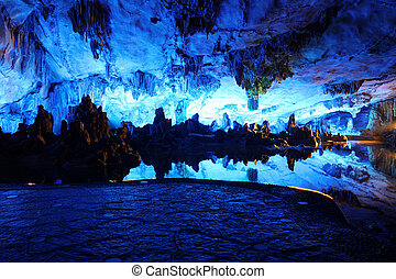 Reed Flute Caves in Guilin, Guangxi Provine, China