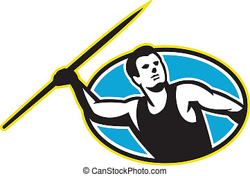 Javelin Throw Track and Field Athlete