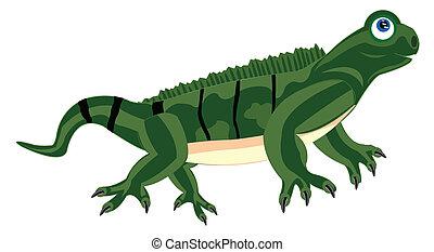 Pangolin iguana on white background - Illustration of the...