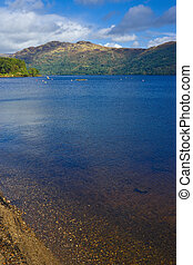 Loch Lomond, Scotland - The bonnie banks and blue waters of...