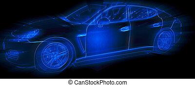 Geneva motor-show 2011 - GENEVA - MARCH 8: The Porsche...
