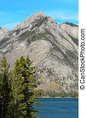 Lake Minnewanka and Mount Astley - Lake Minnewanka or Water...