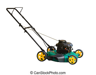 Lawn Mower - Lawn mower isolated on a white background