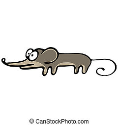 Abstract mouse Illustration on white background for creative...