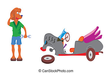 Dog fitter - Vector image of u0430 dog fitter