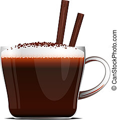 Cup of Coffee over white, EPS 10, AI, JPEG