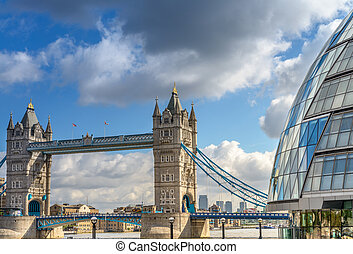 Beautiful view of Tower Bridge with surrounding Buildings - Lond