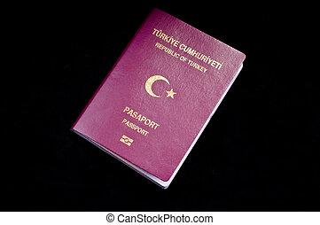 Touristic Turkish passport