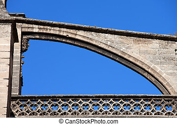 Flying Buttress of Seville Cathedral - Flying buttress,...