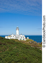 Lighthouse - The white painted lighthouse at Fanad Head,...
