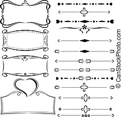 set of design elements - vector set of design elements
