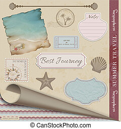Scrapbooking Summer Travel - Scrapbooking Vector Set:Summer...