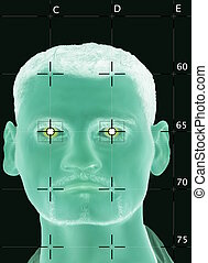 Scanned biometric face