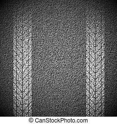 Texture of asphalt - Asphalt background texture with traces...