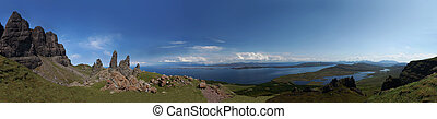 Old Man of Storr, Isle of Skye panorama