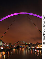 Newcastle bridges - Newcastle upon Tyne bridges in the...