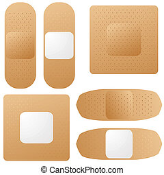 band aid - Collection of brown illustrated band aids from...