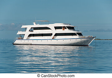 Motor yacht for tourists