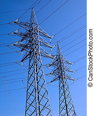 Electricity Towers - Electrical utility company distribution...