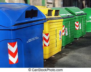 Recycle Recipients - Recycle wheelie bins in Majorca...