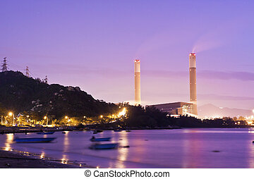 Power plants along the coast