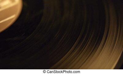 Vinyl record close-up