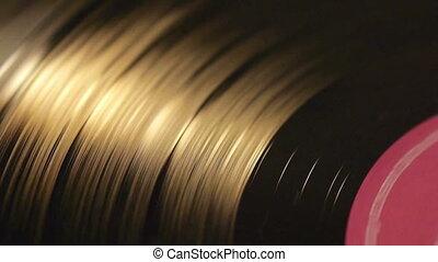 Vinyl record top view