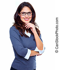 Happy Business woman - Portrait of young business woman...