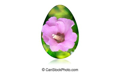 Glass Easter Egg with Flower