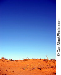 Sand Dune and Sky - Perfect blue sky above an Outback...