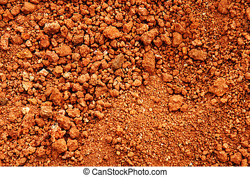 Red earth or soil background - Tropical laterite soil or red...