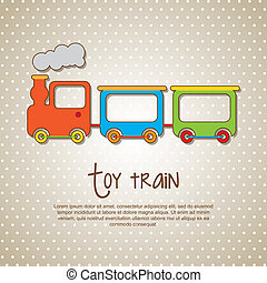 toy train over beige background vector illustrion