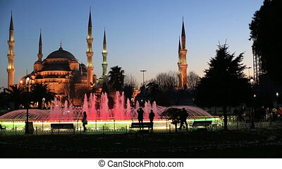 Blue Mosque at the istanbul Turkey