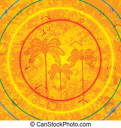 Summer tropical holiday background with palms