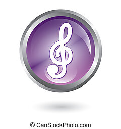 music icons - music button over white background vector...