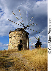 Greek Windmill - An old historic windmill in Halkidiki...