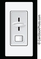 Dimmer - Device for controlling the intensity lamp. Vector...