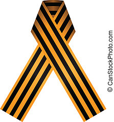 Ribbon of Saint George - The ribbon consists of a black and...