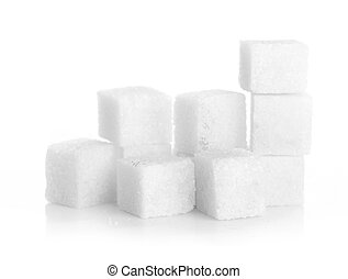 Studio photography of a lump sugar isolated on white...
