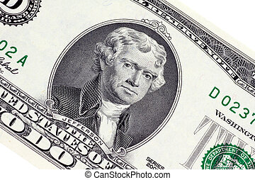 Thomas Jefferson on 2 Dollar Banknote