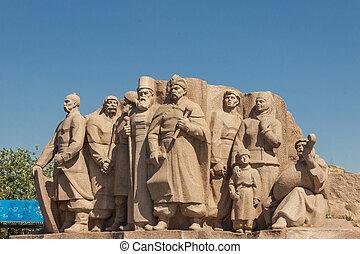 Ucrania,  Kiev,  reunión,  -, monumento