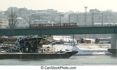 Belgrade, Serbia, bridge - Belgrade, Tramway bridge, old...