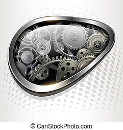 Abstract background with technology gears, vector.