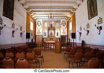 inside El presidio Santa Barbara - inside view of the chapel...