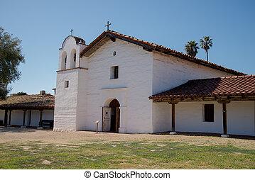 El Presidio Santa Barbara Chapel - Front view of El Presidio...