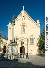 cloister - church and cloister of capuchins in bratislava,...