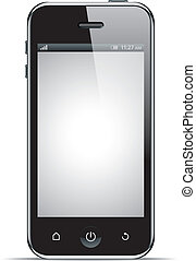 Realistic smart phone, vector illustration. This file is...