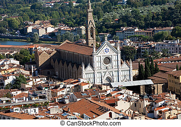 Florence - the view on Santa Croce from the dome Duomo