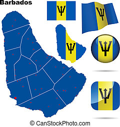 Barbados vector set.